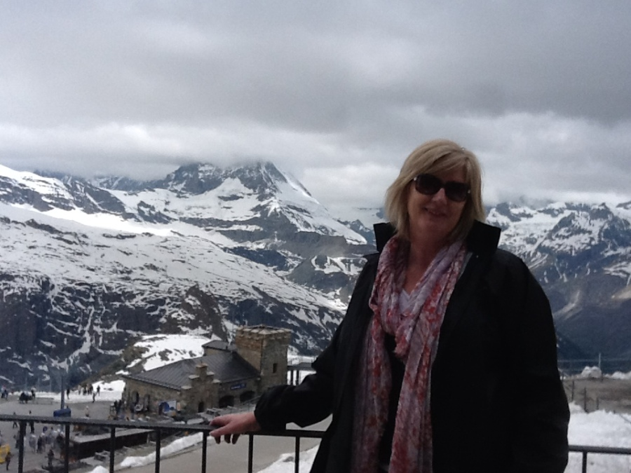 at Gornergrat plateau above Zermatt