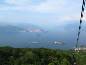 Lake Maggiore islands from cable car