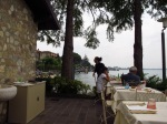 Lunch behind the loo on Lake Garda!!