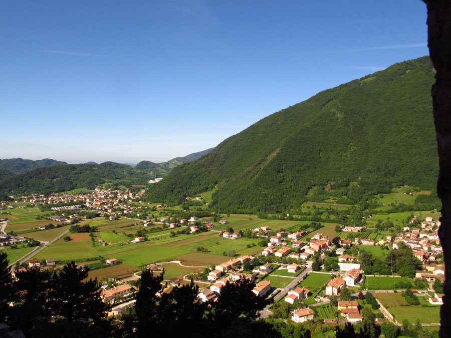 Village below Castelbrando