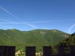 Jet trails from Castelbrando, Italy