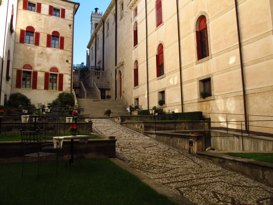 Courtyard at Castelbrando Italy
