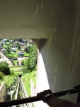 Looking down the funicular at Castelbrando, Italy