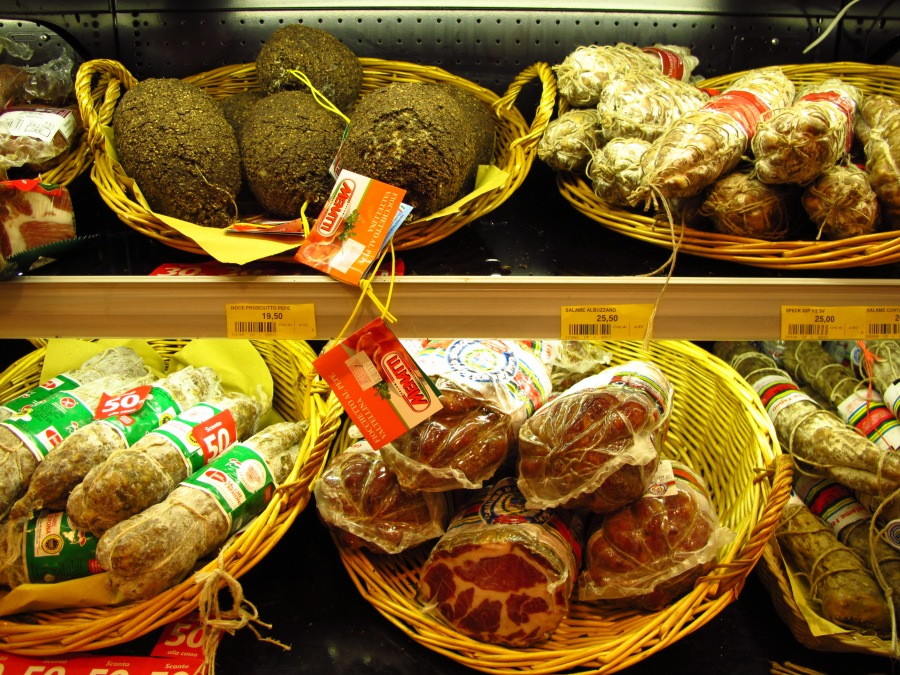 Wonderful food for sale at service stations in Italy