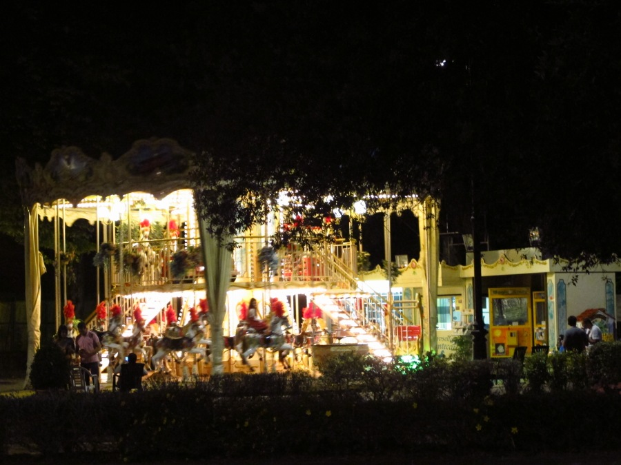 Two tier carousel in Montecatini