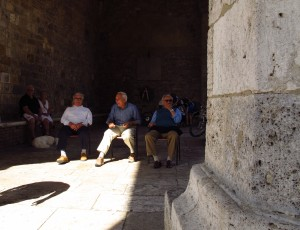 Men's meeting, San Gimignano