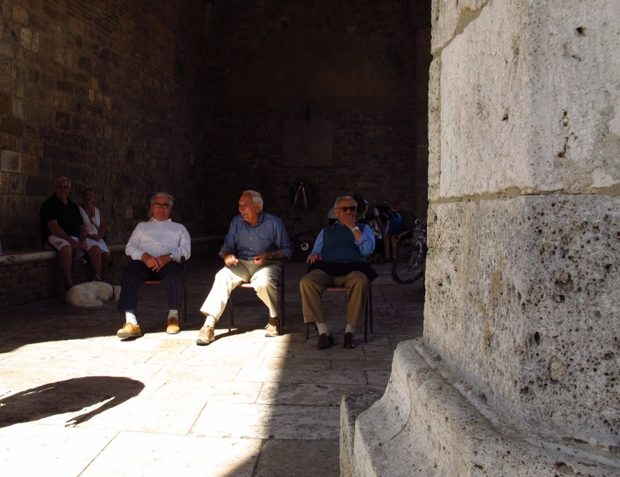 Men's meeting, San Gimignano