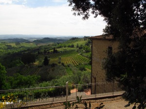 View from San Gimignano Italy