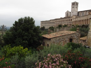 View from outside Assisi Italy