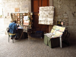Artist at work Assisi Italy