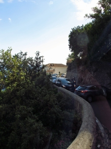 Oops! On the Amalfi Coast road