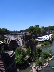 Isola Tiberina and Ponte Rotto, Rome
