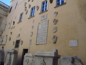 Courtyard of Musei Capitoline, Rome Italy