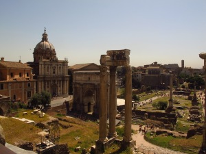 Roman Forum from the Tabularium, Rome, Italy