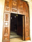 Wooden doorway of Basilica di San Vitale