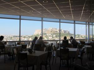 View from dining room, Astor Hotel, Athens