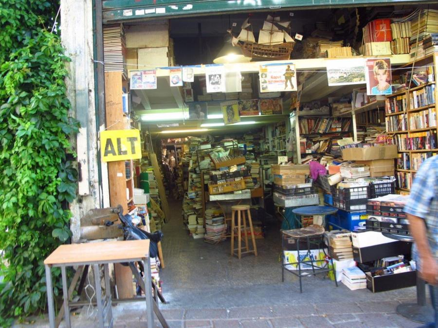 Let me loose in here - Athens book stall