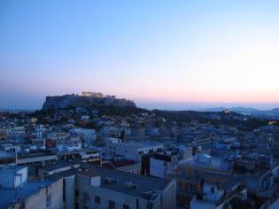 Dusk on the Acropolis Athens