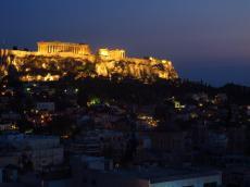 Acropolis at night, Athens