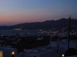 Twinkling lights of Mykonos by night