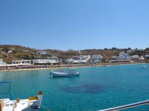 Blue, blue water around Mykonos