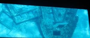 Shipwreck through glass bottom boat - Mykonos