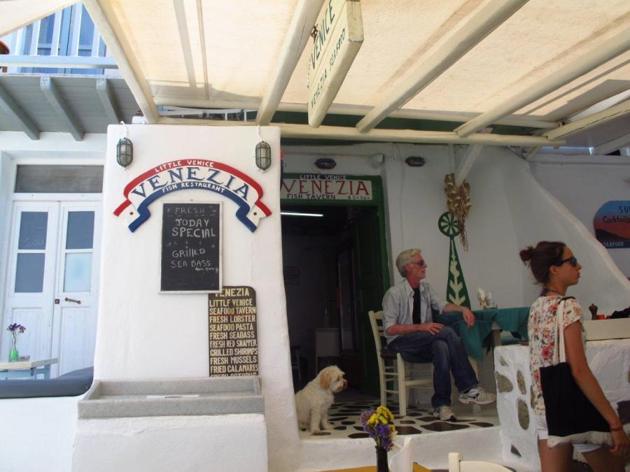 Cafe at Little Venice - Mykonos