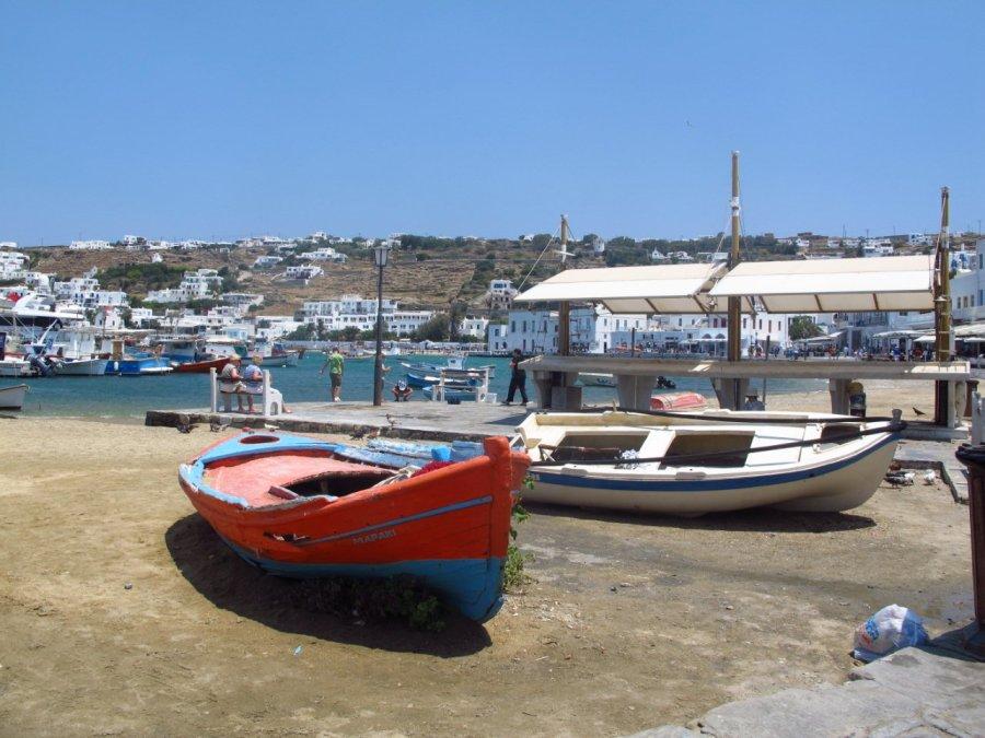 Boats on Mykonos