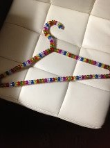 Beaded clothes hanger from Paros