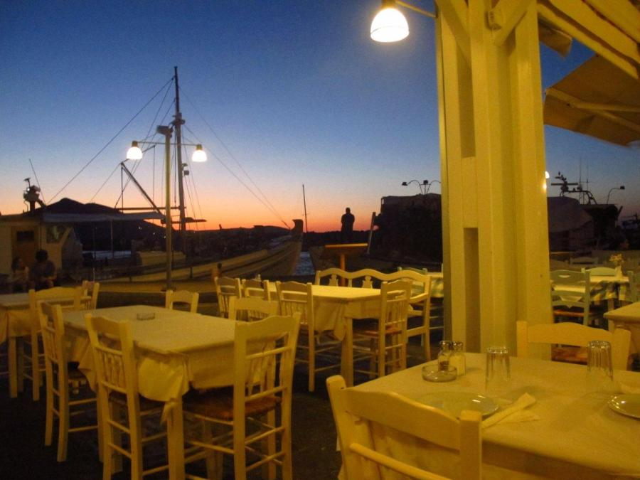 Dusk on Paros, Greece