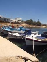 Boats near the ferry to Antiparos
