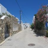 Street in front of Kanales, Paros