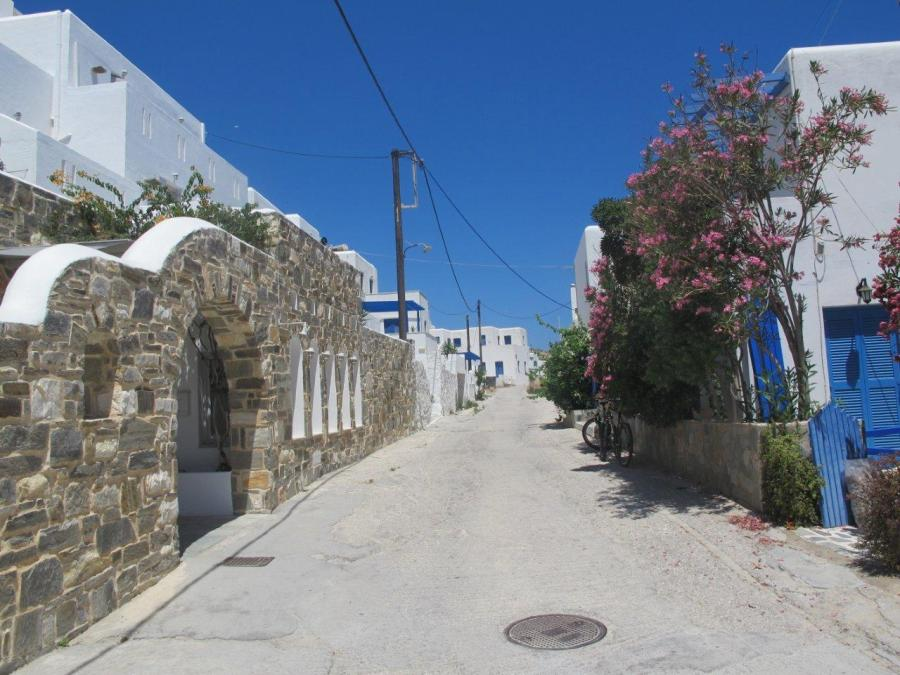 Street in front of Kanales, Paros