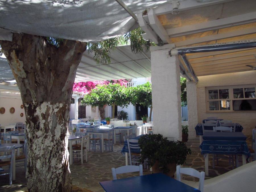 Shady spot in Naoussa, Paros