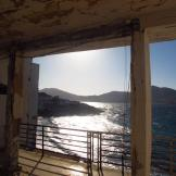 Sunset from our favourite ruin in Naoussa, Paros