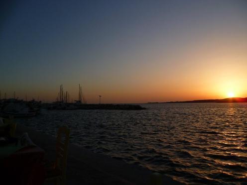 Sunset at Parikia on Paros