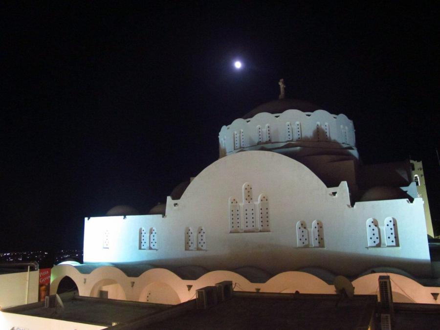 Church at night - Santorini