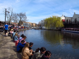 Soaking up the sun - 15 degrees!! Camden, London