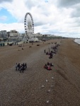 Lunch on the beach at Brighton