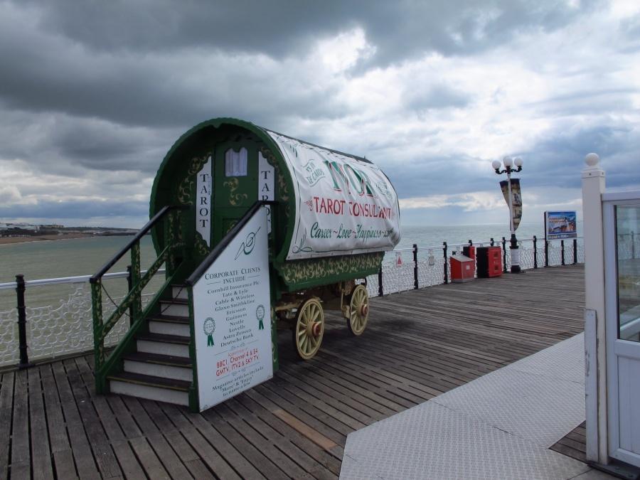 Tarot cards on Brighton Pier