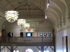 Having a coffee in the Brighton Museum