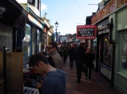 Shoppers in North Laine, Brighton, England