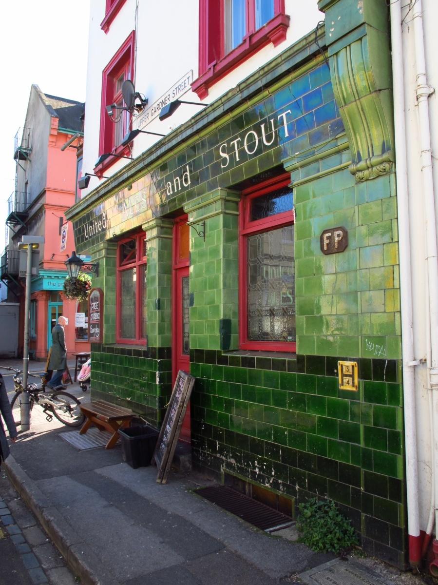 Interesting pub in North Laine, Brighton, England