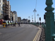 Police ready for trouble during a facist march, Brighton England
