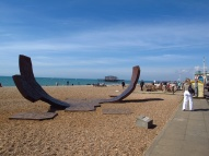 Sculpture on Brighton Beach, England