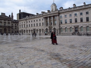 The courtyard of Somerset House, The Strand, London