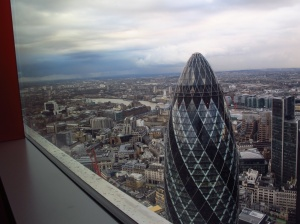 the Gherkin from a new 39th floor bar in London