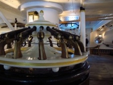 Pistol storage on HMS Warrior