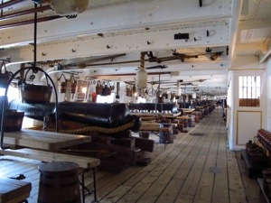Just a few of HMS Warriors cannons