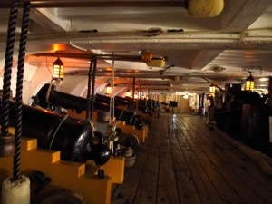 Look how gorgeous the floor is - HMS Victory